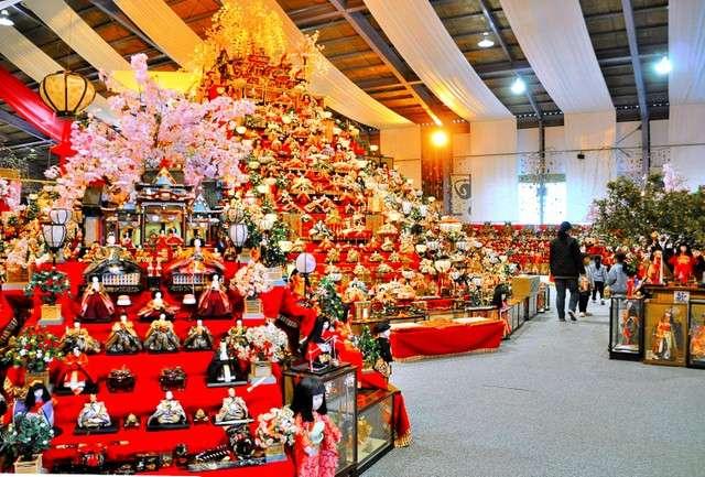 「BIG女兒節」主會場人偶文化交流館,現場擺飾約3萬尊女兒節人偶。(圖/潮日本提供)