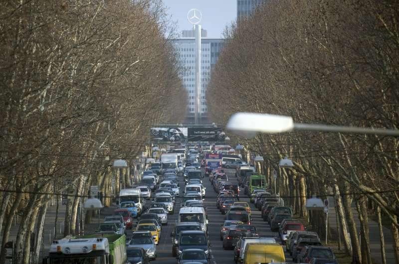 全德國登記在冊的柴油車約有1500萬輛,排放大量氮氧化物。(美聯社)
