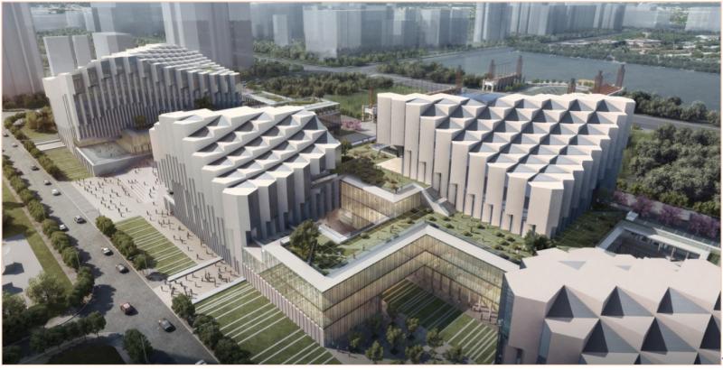 20180308-中國廣州的南海文化中心設計案。(作者提供,取自www.archdaily.com)