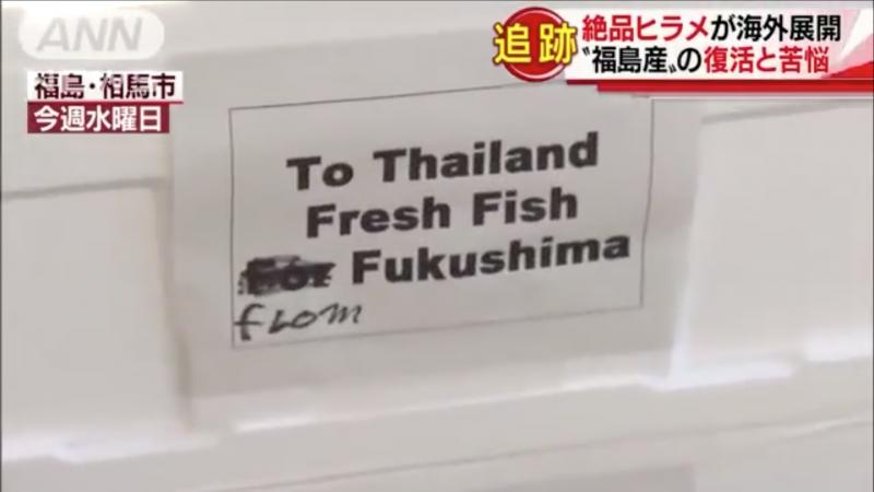 運往泰國的福島漁獲。(翻攝臉書)