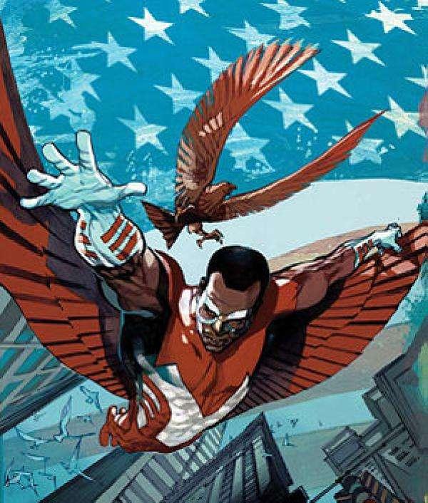 由於黑豹在漫威電影宇宙中登場較晚,獵鷹的金屬翅膀在MCU裡並非從黑豹處獲得。(圖/澎湃新聞提供)