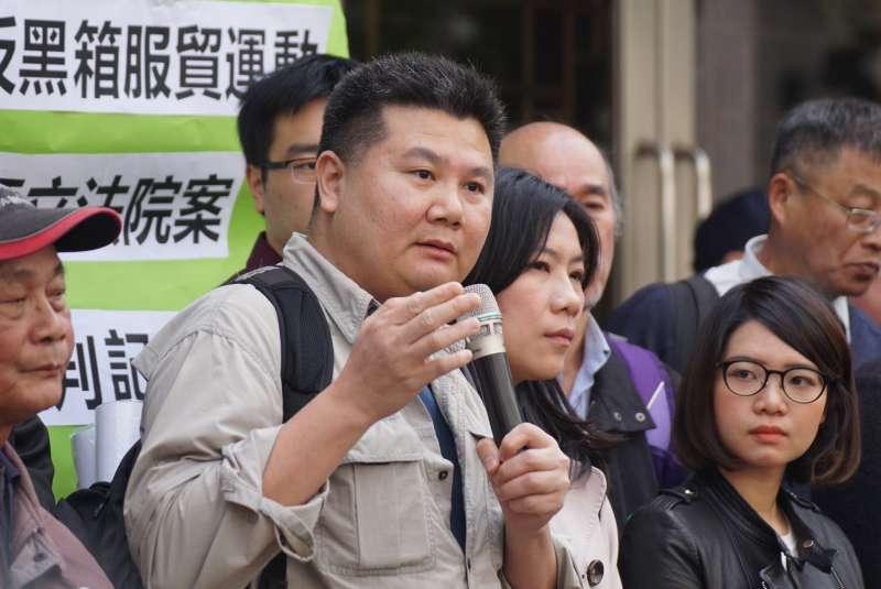 20180313-「318學運案二審宣判」記者會,李惠仁發言。(盧逸峰攝)