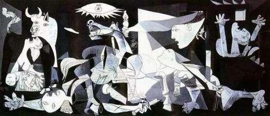 畢卡索《格爾尼卡》,1937年(圖/澎湃新聞提供)