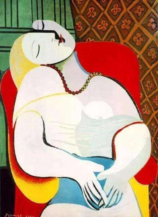 畢卡索《夢》,1932年(圖/澎湃新聞提供)
