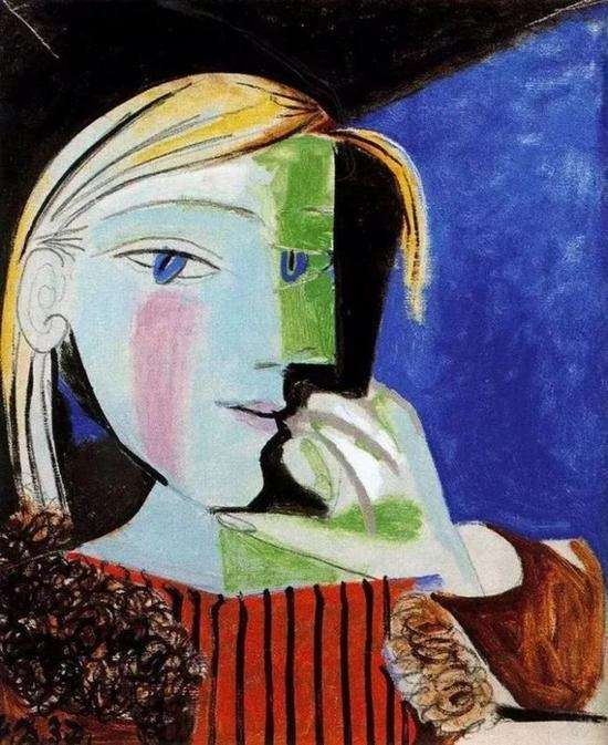 畢卡索為瑪麗·泰瑞莎創作畫像(圖/澎湃新聞提供)