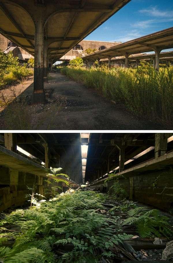 水牛城的老火車站 (圖/澎湃新聞提供)