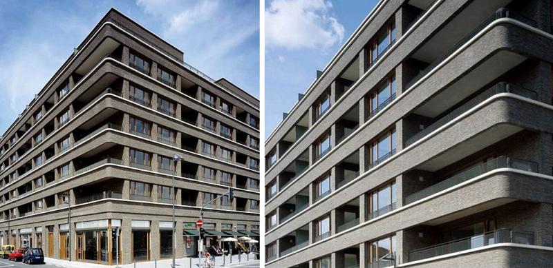 法蘭克福羅特魏勒爾廣場的集合住宅。(觀築世界)