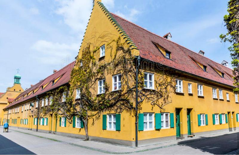 德國奧格斯堡的Fuggerei是世界最舊的社會住宅群。