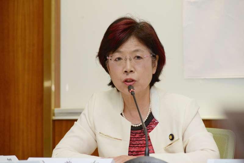 20180416-「2018台灣網路透明報告成果發表」記者會,立法委員尤美女。(甘岱民攝)