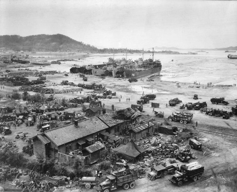 韓戰,仁川登陸戰(維基百科/公有領域)