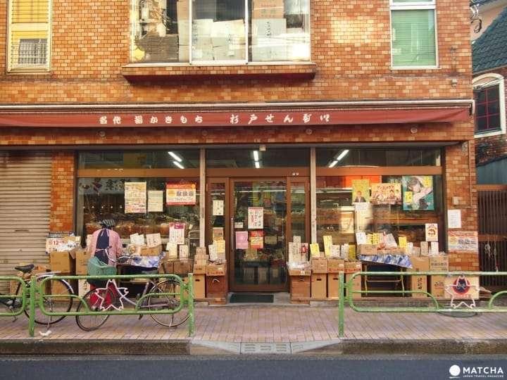 「杉戶煎餅」位在轉乘大站「青砥站」的站前商店街內。(圖/Matcha提供)