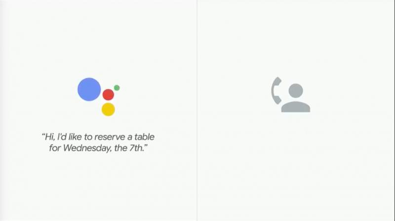 Google Assistant智慧到能自己打電話給餐廳,幫用戶訂位。(圖/取自Google I/O)