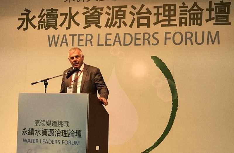 以色列水務總局局長 Giora Shaham表示,價格是最好的誘因,以色列的經驗是水費反映成本,省水效率就大提高。(經濟部官網)