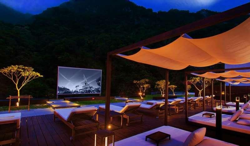 太魯閣晶英酒店的「露天電影院」。(圖/HotelsCombined提供)