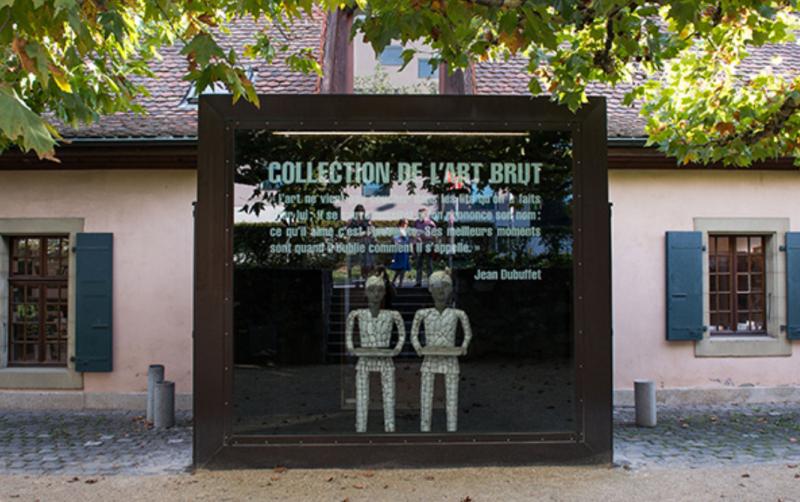 原生藝術博物館門外。(圖/取自Collection de L'art Brut,澎湃新聞提供)