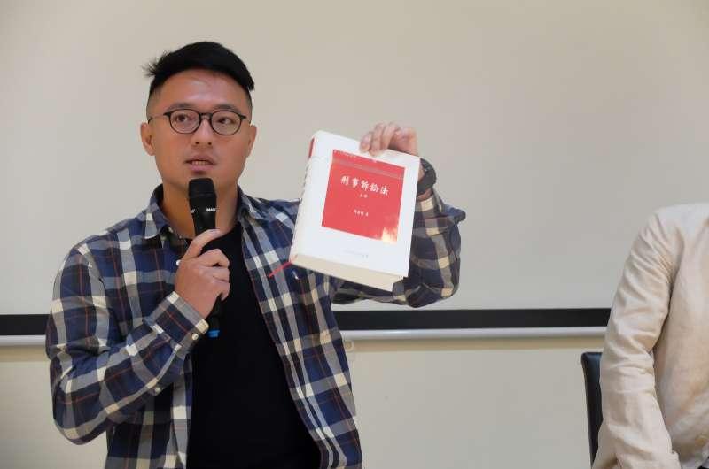 20180518-廢死聯盟法務主任林慈偉參加《鹹豬手事件簿》電影映後座談(謝孟穎攝)