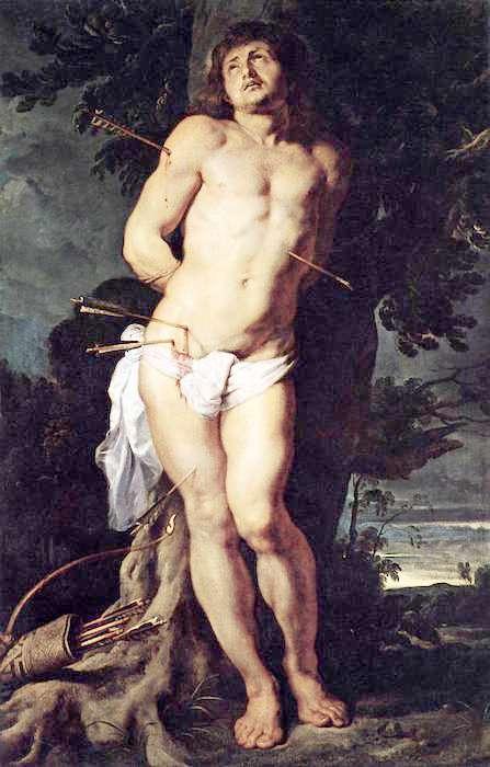 荷蘭畫家魯本斯畫的聖瑟巴斯添諾。(wikimedia Commones)