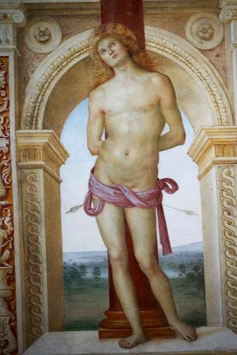 佩魯吉諾的聖徒瑟巴斯添諾。(曾廣儀攝)