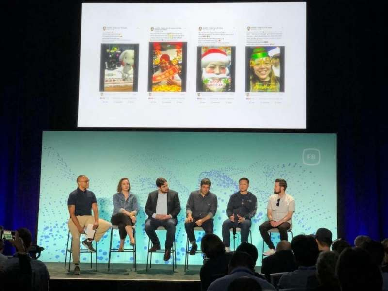 啟雲科技創辦人暨執行長丘立全(右2),今年5月登上了Facebook年度開發者大會F8的舞台。(圖/丘立全 Facebook,數位時代提供)