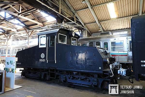 來自東急的デキ3020型電力機關車,成為上毛電鐵的珍貴保存車輛。(圖/陳威臣攝影 想想論壇提供)