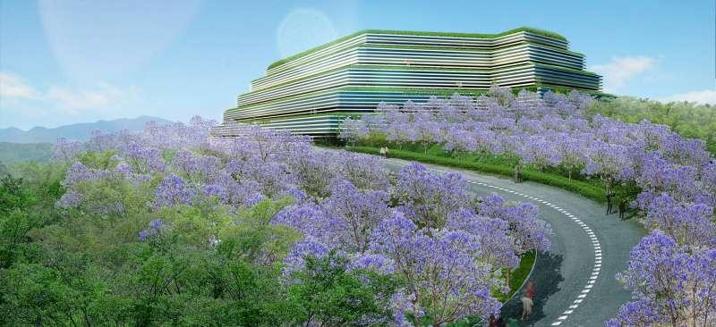光之丘-往天際延展的建築物象徵了萬物的生命力與延續力。(此為3D示意圖,請以實品為主)