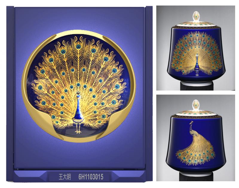 大倉陶園為龍巖光系列建築中製作的「風華」,希望能將今世的生命價值轉化為藝術,永久留存。(圖/龍巖提供)