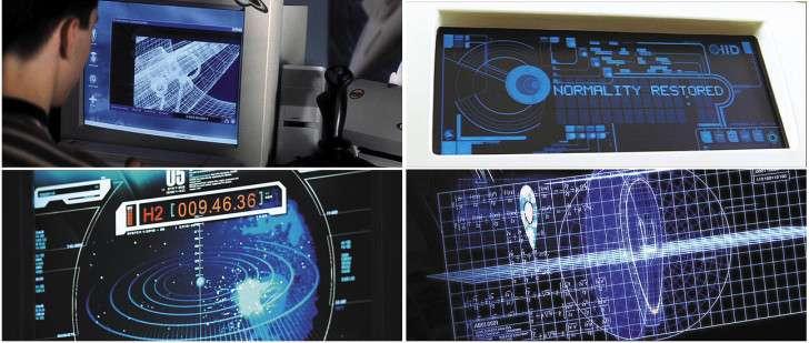科幻電影裡的藍色顯示屏。(圖/iware.com_.tw)