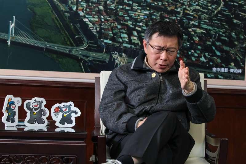 台北市長柯文哲專訪。(顏麟宇攝)