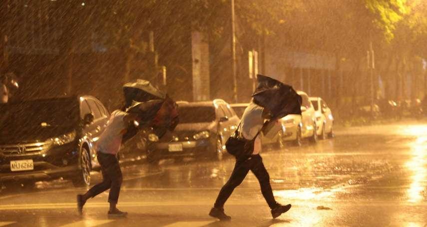 卡努颱風與東北風「共伴效應」發威!12縣市豪大雨特報