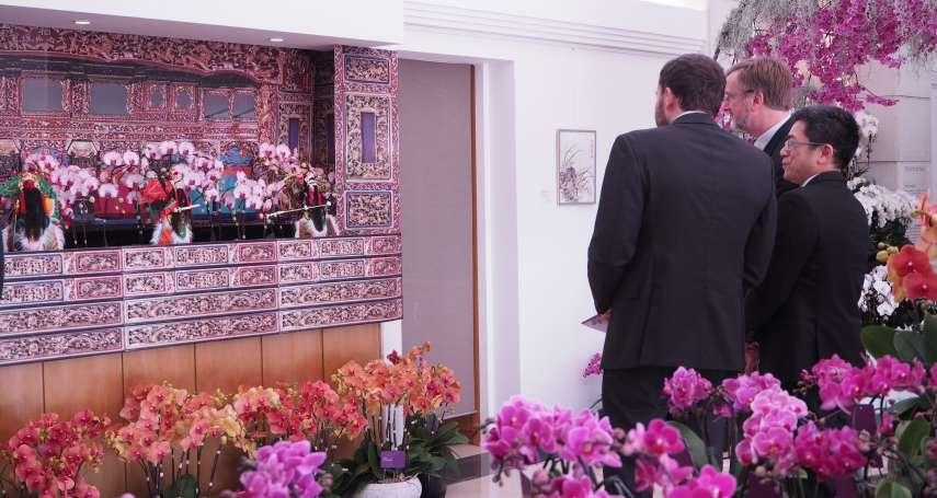 台灣蘭展》駐WTO代表處首辦蝴蝶蘭展 2200株各色蝴蝶蘭 驚艷大使政要