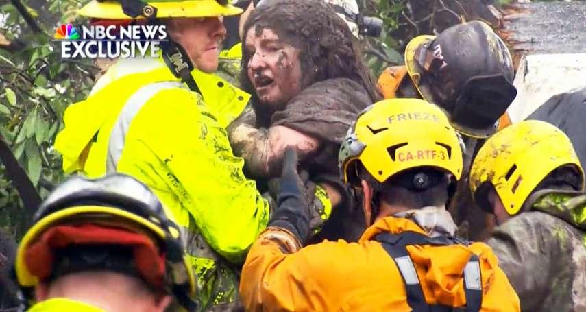 「宛如世界大戰戰場」野火才撲滅,恐怖土石流侵襲!加州至少17死、17人失蹤