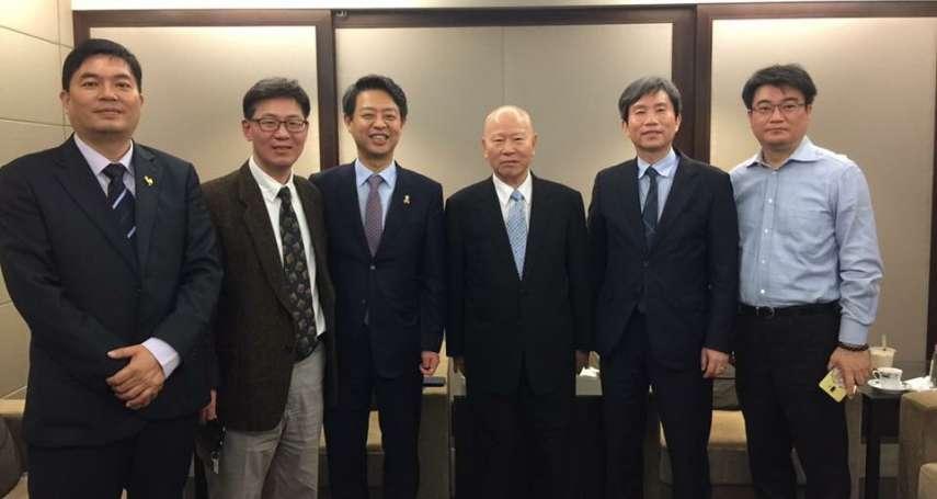 當年同為台韓異議人士,故人之子、韓國執政黨國會議員拜訪許信良敘舊