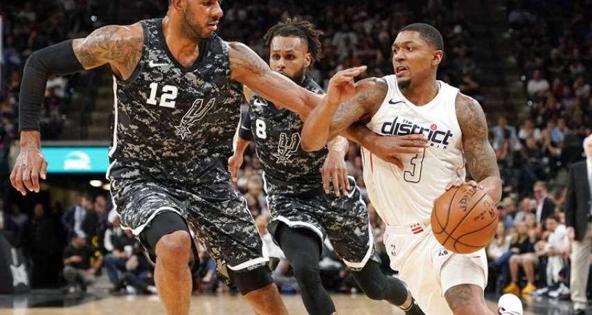 NBA》艾德里奇扛起馬刺 擊退巫師收下5連勝