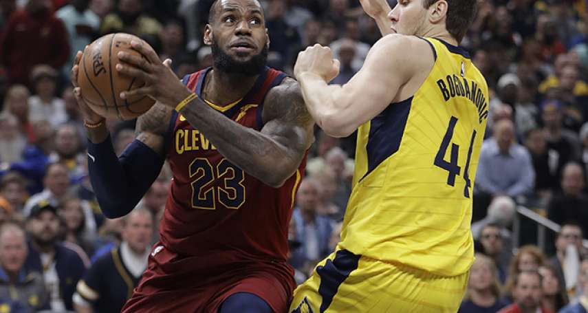 NBA季後賽》詹姆斯率騎士驚險擊敗溜馬 季後賽生涯第100場30分