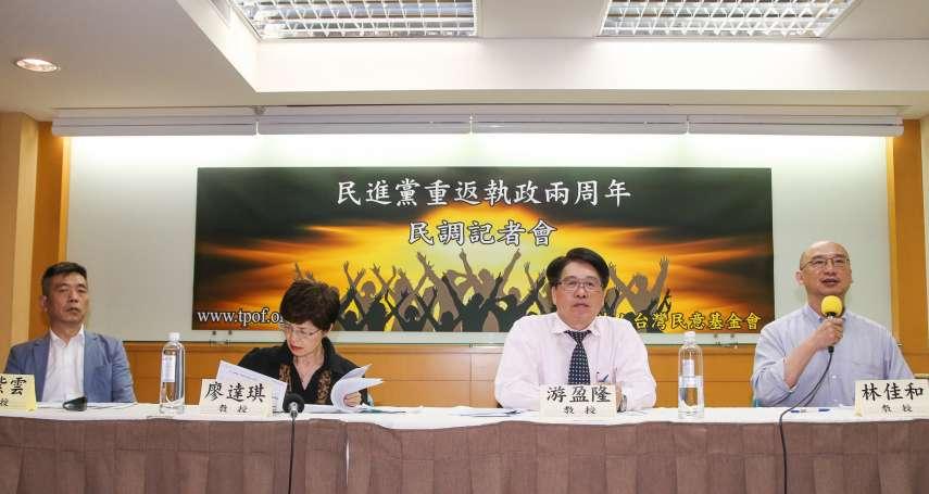台灣民意基金會民調》蔡英文滿意度39%都是民進黨支持者 廖達琪:讓蔡政府聽不到其他人意見
