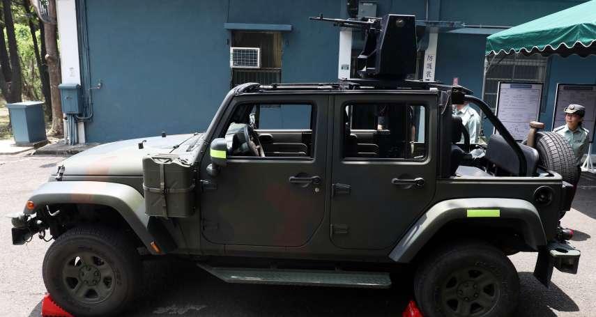 陸軍戰術輪車驚傳火燒車!士官臉部灼傷 軍車燒到剩下骨架