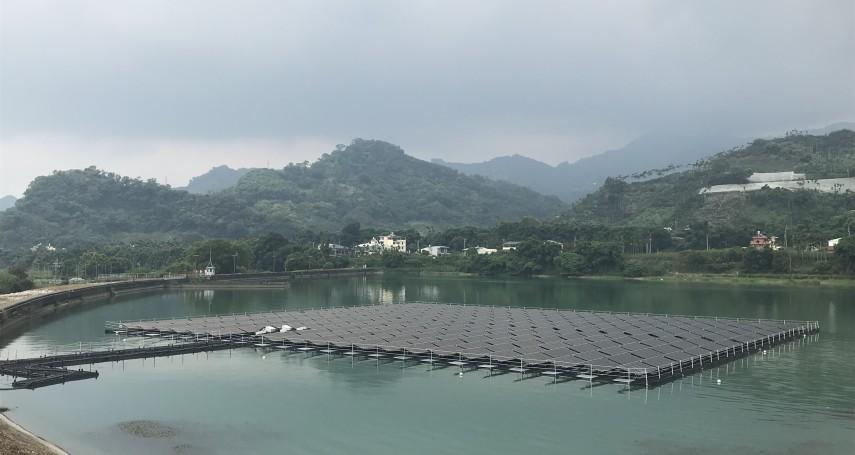 台電馬鞍壩首座水上光電站啟用 年發38萬度電可抵廠內3分之1用電
