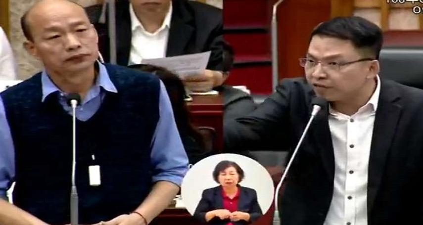 最近高雄市長韓國瑜在市議會與議員的互動引發討論,請問您覺得韓國瑜在議會接受市政總質詢的表現如何?