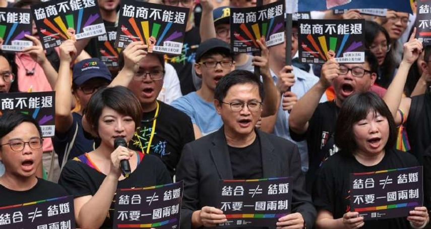 立法院三讀通過同婚法案,明訂同性伴侶可登記結婚,台灣成為亞洲第一個同性婚姻法制化國家,請問您對這結果滿不滿意?
