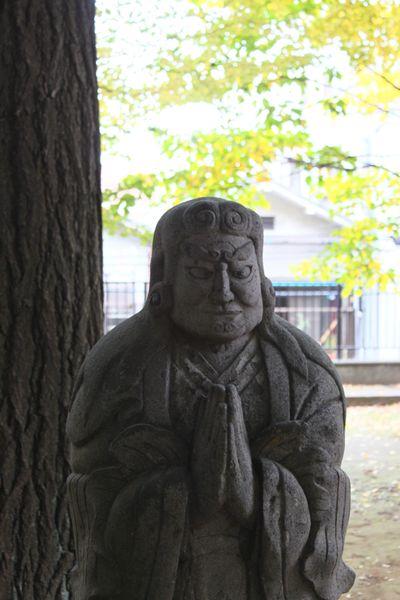 鬼子母神沒有惡角,面容慈眉善目。(圖/Flickr@Makoto nakashima)