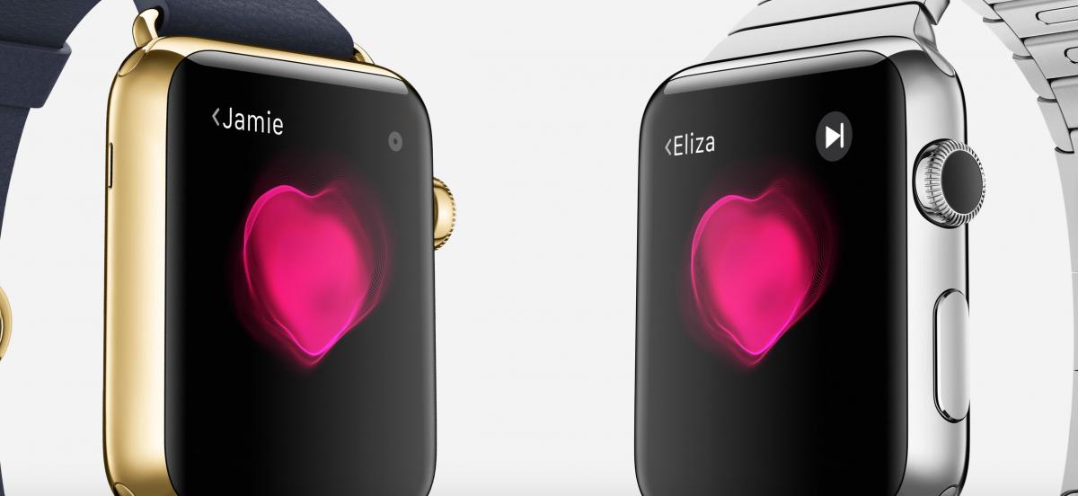 可以傳送心跳速率的Apple Watch,可能是數位時代的低調放閃方式。 (蘋果官網)
