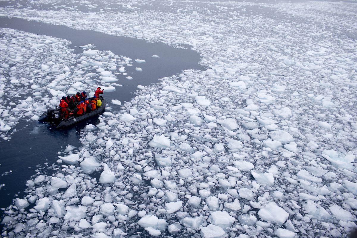 全球暖化導致南極海冰加速融化
