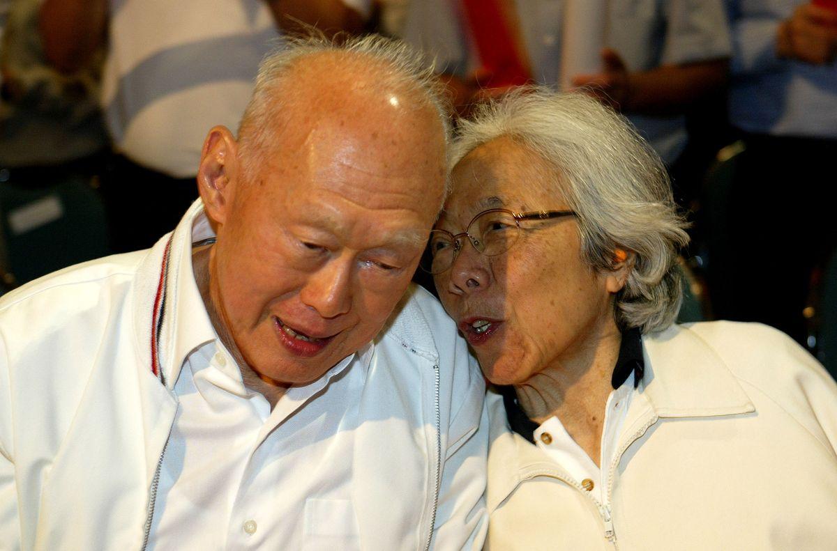 李光耀與夫人柯玉芝