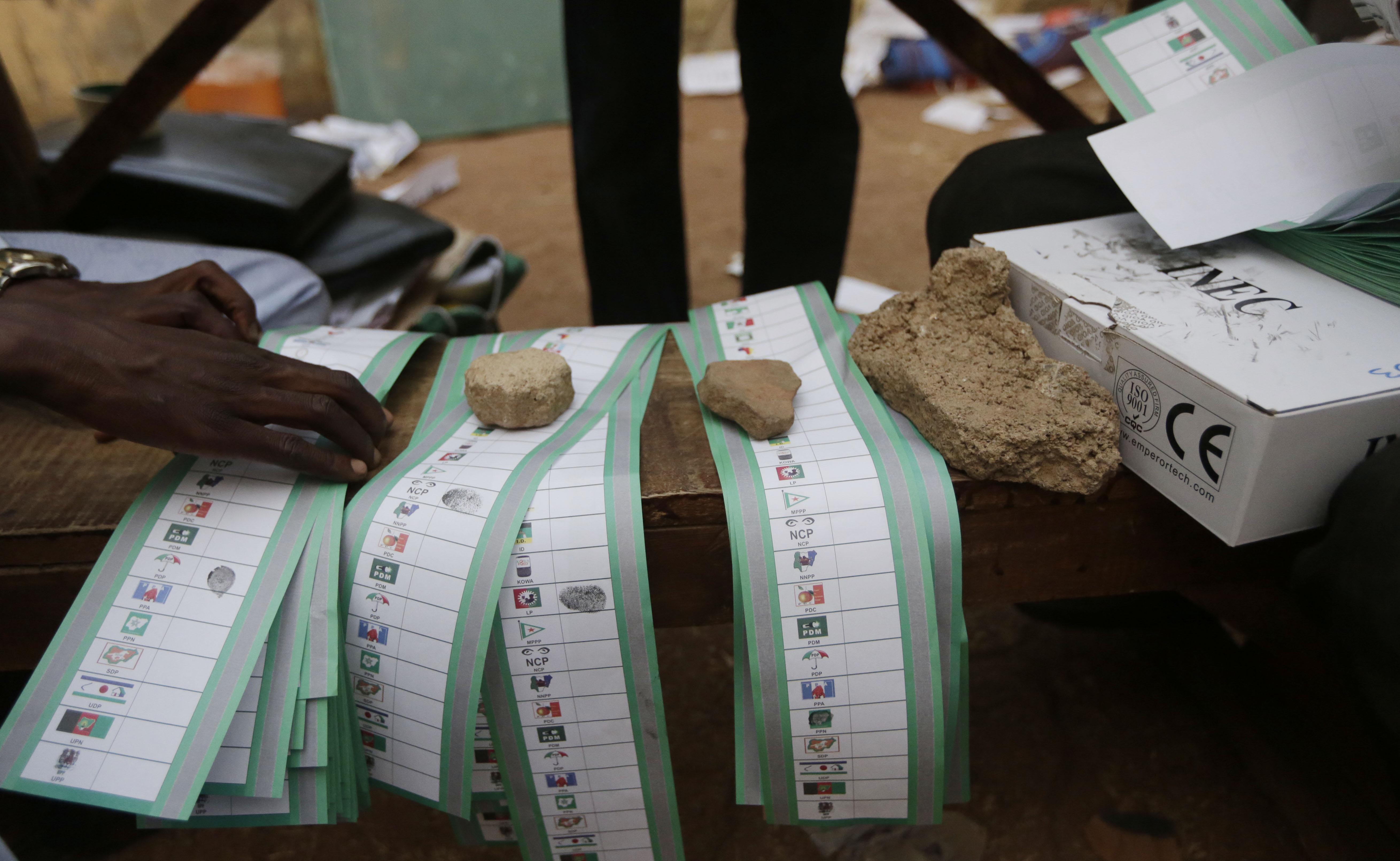奈及利亞投票。(美聯社)