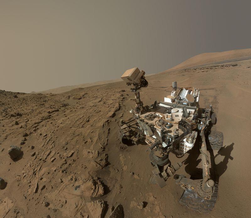 火星漫遊車「好奇號」(Curyosity)的自拍照