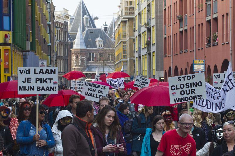 荷蘭阿姆斯特丹性工作者抗爭