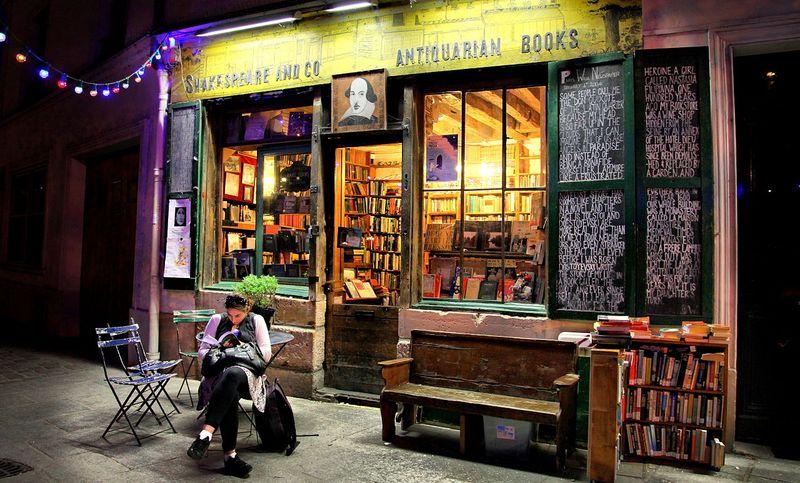 巴黎的莎士比亞書店(Christine Zenino/Flickr/維基百科)