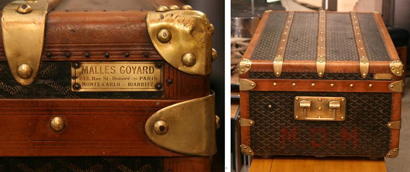Goyard是巴黎最老牌的皮箱精品店,比Louis Vuitton還要老一歲。