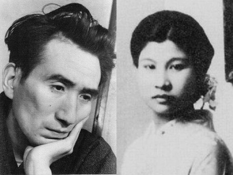 太宰治與其妻美知子(圖/wikimedia_commons)