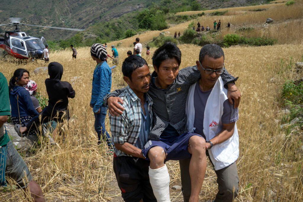 無國界醫生(MSF)組織志工(MSF提供,Photo credit: © Brian Sokol/Panos Pictures)